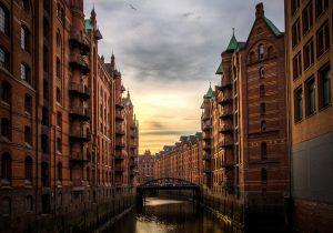 Die Speicherstadt ist ein beliebtes Landmark in Hamburg